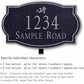 Salsbury 1441BSDL Signature Series Address Plaque