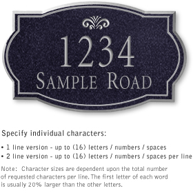 Salsbury 1441BSFS Signature Series Address Plaque