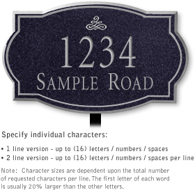 Salsbury 1441BSIL Signature Series Address Plaque