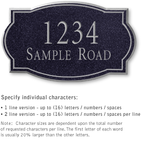 Salsbury 1441BSNS Signature Series Address Plaque