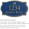 Salsbury 1441CGDS Signature Series Address Plaque