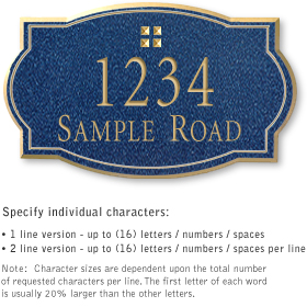 Salsbury 1441CGGS Signature Series Address Plaque