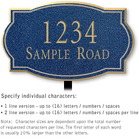 Salsbury 1441CGNL Signature Series Address Plaque