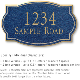 Salsbury 1441CGNS Signature Series Address Plaque