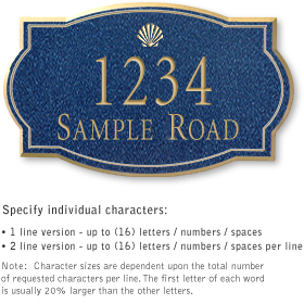 Salsbury 1441CGSS Signature Series Address Plaque
