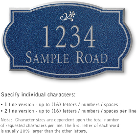 Salsbury 1441CSDS Signature Series Address Plaque