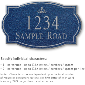 Salsbury 1441CSIS Signature Series Address Plaque
