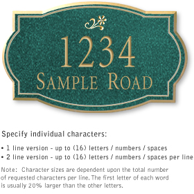 Salsbury 1441JGDS Signature Series Address Plaque