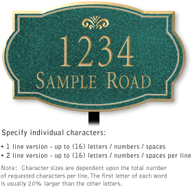 Salsbury 1441JGFL Signature Series Address Plaque