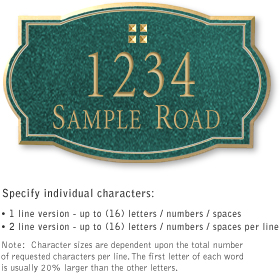 Salsbury 1441JGGS Signature Series Address Plaque