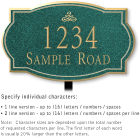 Salsbury 1441JGIL Signature Series Address Plaque