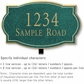 Salsbury 1441JGNL Signature Series Address Plaque