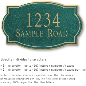 Salsbury 1441JGNS Signature Series Address Plaque