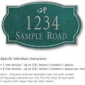 Salsbury 1441JSDS Signature Series Address Plaque