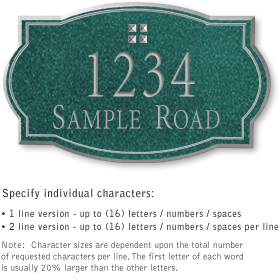 Salsbury 1441JSGS Signature Series Address Plaque