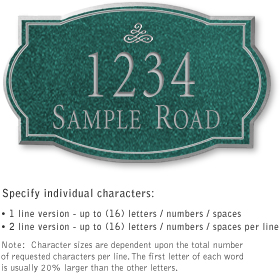Salsbury 1441JSIS Signature Series Address Plaque