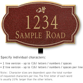 Salsbury 1441MGDL Signature Series Address Plaque