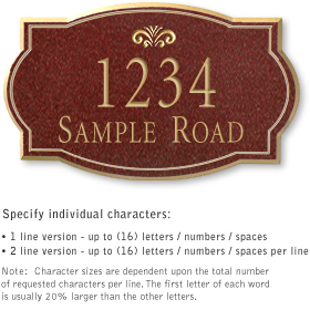 Salsbury 1441MGFS Signature Series Address Plaque