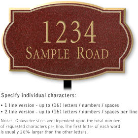 Salsbury 1441MGNL Signature Series Address Plaque