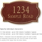 Salsbury 1441MGNS Signature Series Address Plaque