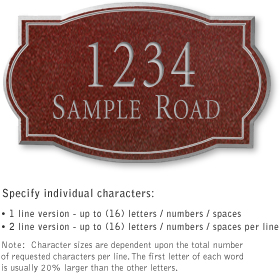 Salsbury 1441MSNS Signature Series Address Plaque