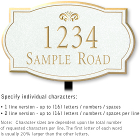 Salsbury 1441WGFL Signature Series Address Plaque