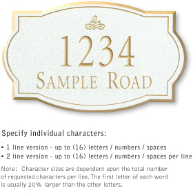 Salsbury 1441WGIS Signature Series Address Plaque