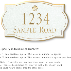 Salsbury 1441WGSS Signature Series Address Plaque