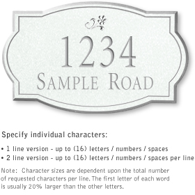 Salsbury 1441WSDS Signature Series Address Plaque