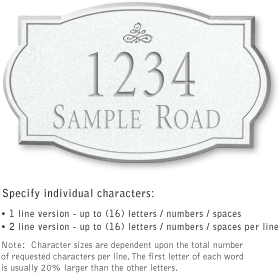 Salsbury 1441WSIS Signature Series Address Plaque