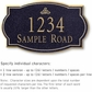 Salsbury 1440BGIS Signature Series Address Plaque