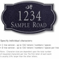 Salsbury 1440BSDS Signature Series Address Plaque