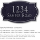 Salsbury 1440BSNS Signature Series Address Plaque