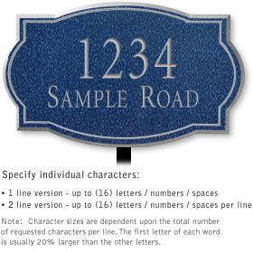 Salsbury 1440CSNL Signature Series Address Plaque
