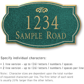 Salsbury 1440JGFS Signature Series Address Plaque