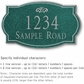 Salsbury 1440JSFS Signature Series Address Plaque