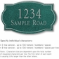 Salsbury 1440JSNS Signature Series Address Plaque