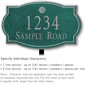 Salsbury 1440JSSL Signature Series Address Plaque