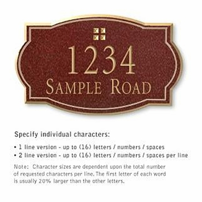Salsbury 1440MGGS Signature Series Address Plaque
