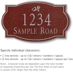 Salsbury 1440MSDS Signature Series Address Plaque