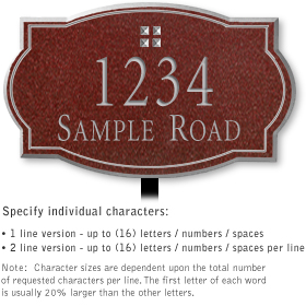 Salsbury 1440MSGL Signature Series Address Plaque
