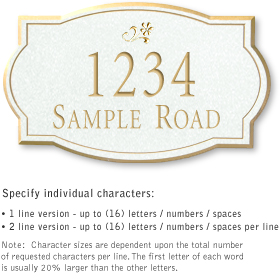 Salsbury 1440WGDS Signature Series Address Plaque