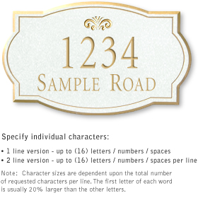 Salsbury 1440WGFS Signature Series Address Plaque