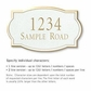 Salsbury 1440WGNS Signature Series Address Plaque