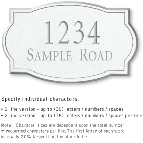 Salsbury 1440WSNS Signature Series Address Plaque