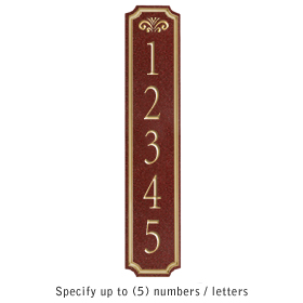 Salsbury 1470MGFS Signature Series Address Plaque