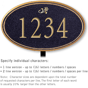 Salsbury 1432BGDL Signature Series Address Plaque