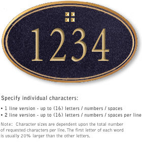 Salsbury 1432BGGS Signature Series Address Plaque