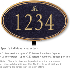 Salsbury 1432BGIL Signature Series Address Plaque