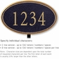 Salsbury 1432BGNL Signature Series Address Plaque